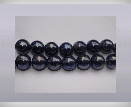 Ceramic Beads-16mm-Dark-Blue