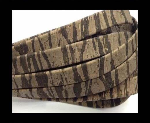 Cork Flat-10mm-Flat Dark Zebra
