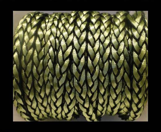 Cuero trenzado plano eco-Estilo 1- 8mm-Verde