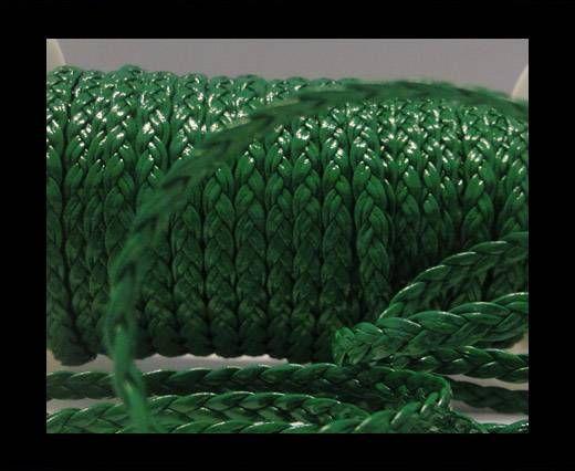 Cuero trenzado plano eco-5mm-Verde