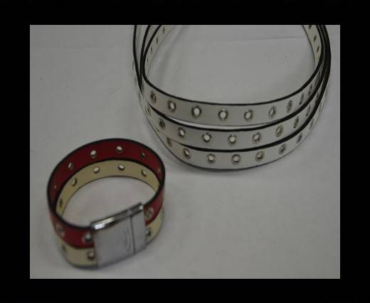 Eco Leather with Rings 10mm-White