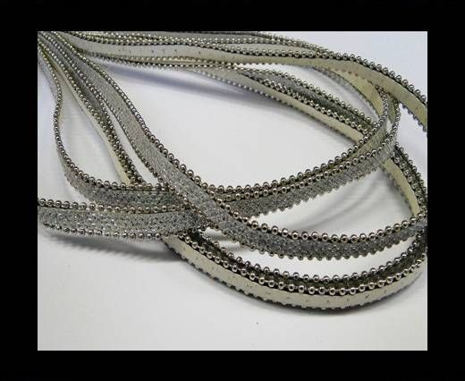 Eco leather with chains-10mm-White