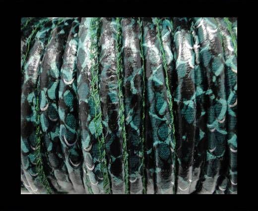 Eco-Nappa 6mm Rattle Snake Style - dark green