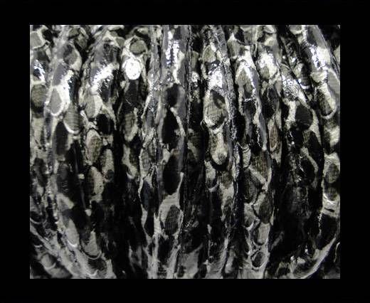 Eco-Nappa 6mm Rattle Snake Style - grey