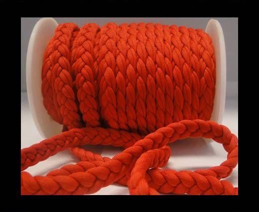 Cordón de tela trenzada-8mm-Rojo