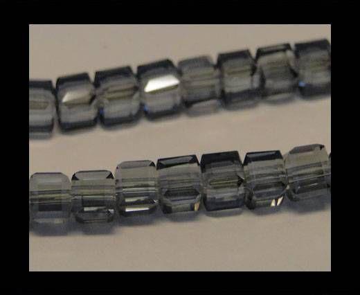 Faceted Cubes-6mm-Cubes-Blue Diamond-6mm