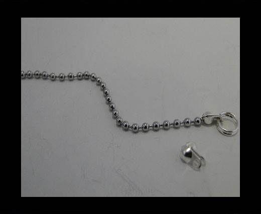 Brass fish lock FI-7006-3.2mm-SILVER