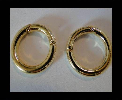 Brass fish lock FI-7040-25mm-GOLD
