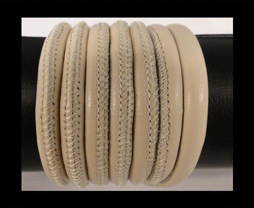 Cuero de nappa de alta calidad -Crema-6mm