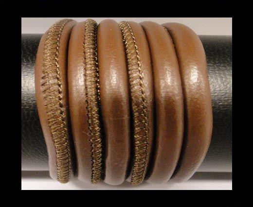 Cuero de nappa de alta calidad -Marrón Claro-6mm