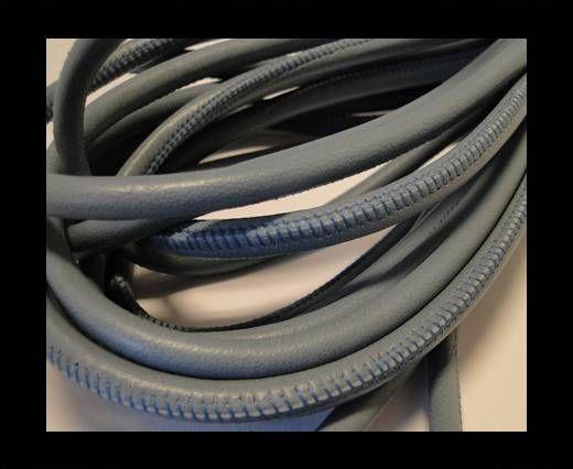 Cuero de nappa de alta calidad -Azul Gris-6mm