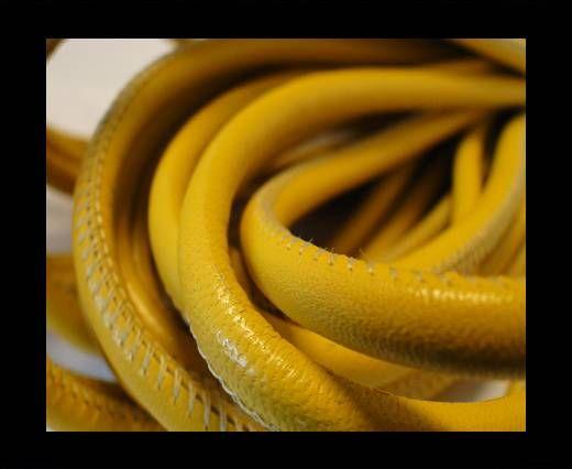 Cuero de nappa de alta calidad-Amarillo-6mm