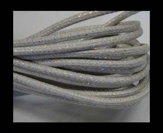 Fine Nappa-Snake-style-White silver-4mm