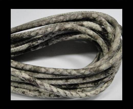 Fine Nappa-Snake style-Silk grey - quarz grey -4mm