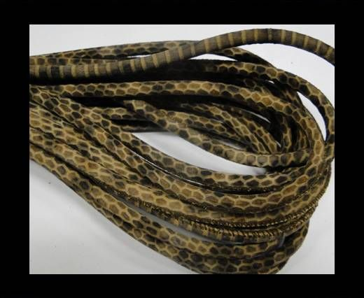 Fine Nappa-Snake-style-Brown-Black-6mm