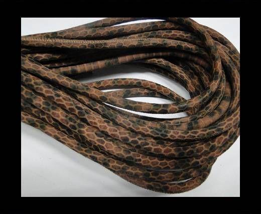 Fine Nappa-Snake-style-Ocher Brown Black-6mm