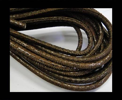 Fine Nappa-Snake-style-Shiny Brown-6mm