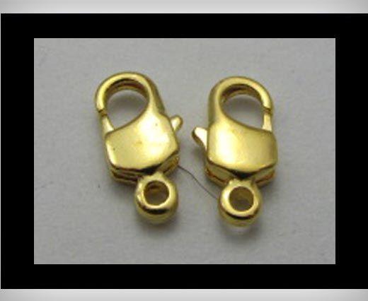 Zamak Lobster Claw Clasp FI7005 - Gold - 5mm