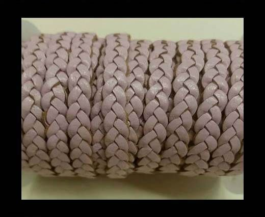 Choti-Flat 3-ply Braided Leather -SE Baby Pink