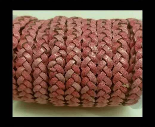 Choti-Flat 3-ply Braided Leather -SE Pink
