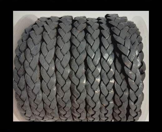 Choti-Flat 3-ply Braided Leather --5MM-SE GREY