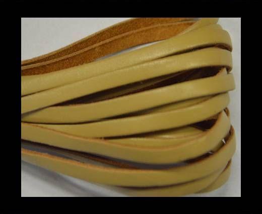 Flat Leather- 5mm - Beige