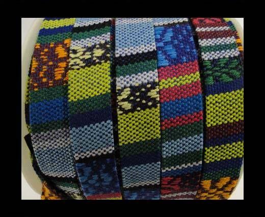 Flat multicolor Fabric cord-10mm-color2