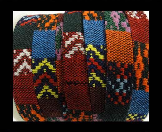Flat multicolor Fabric cord-10mm-color1a
