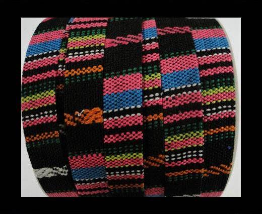 Flat multicolor Fabric cord-10mm-color 3 A