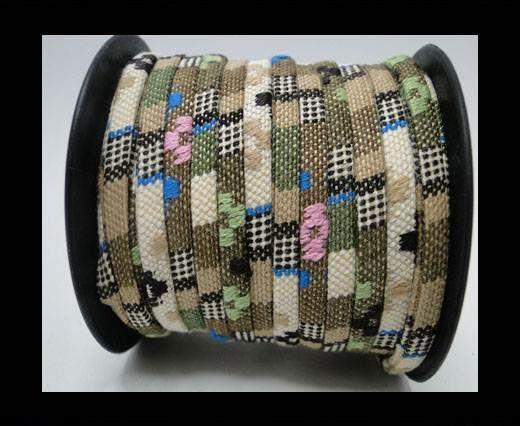 Flat multicolor Fabric cord-5mm-Color 8