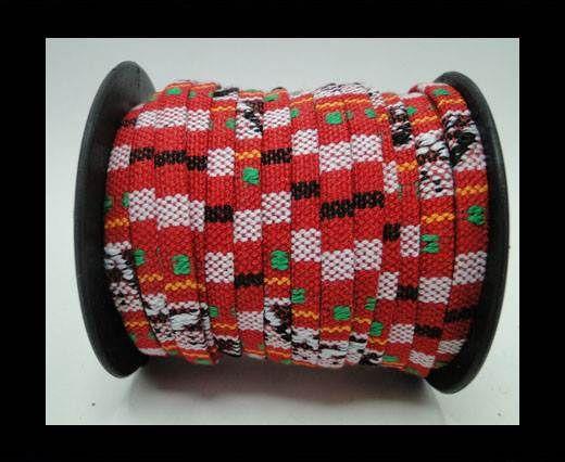 Flat multicolor Fabric cord-5mm-Color 12