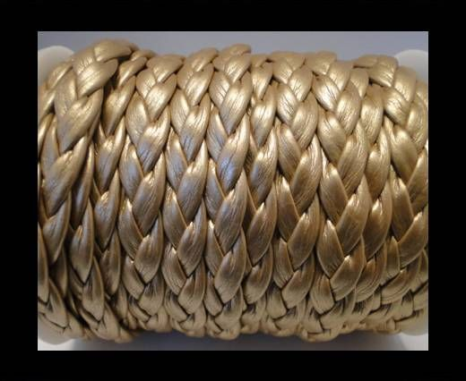 Cordón trenzado plano-eco- 10mm- Oro Claro