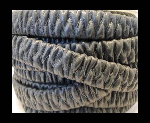 Cuero eco-nappa elástico plano- 10mm- Gris Oscuro