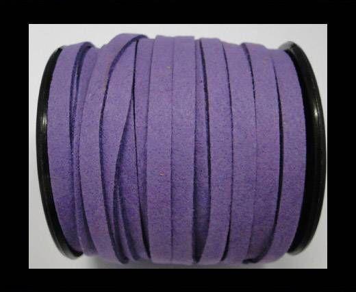 Flat Suede Cord - 5mm - Purple