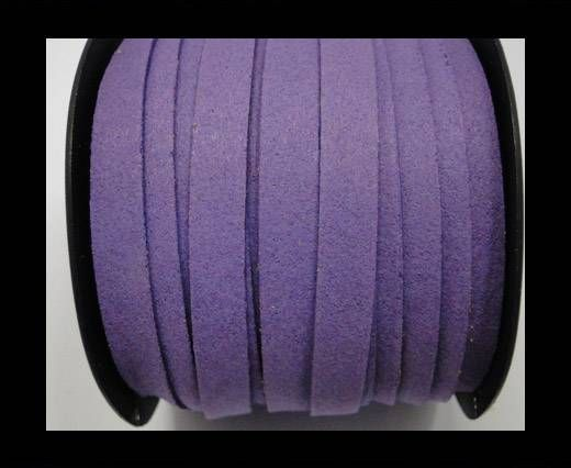 Flat Suede Cord - 10 mm - Purple