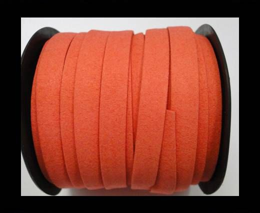 Flat Suede Cord - 10 mm - Watermelon Red