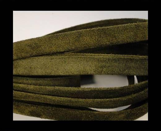Cuero de ante plano- 10mm- Verde