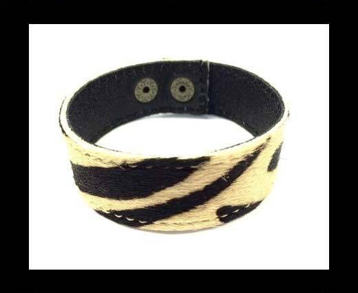 Hair-on bracelet-Zebra Print-20mm