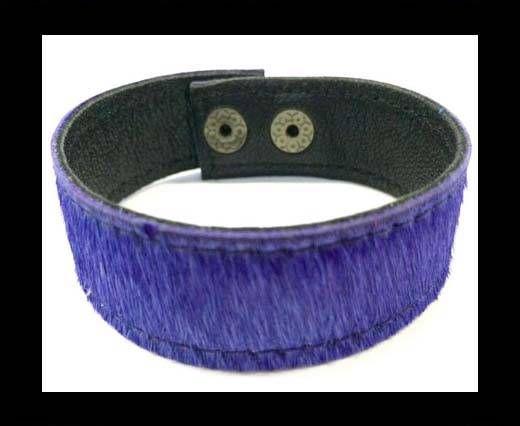 Hair-on bracelet-Purple-20mm