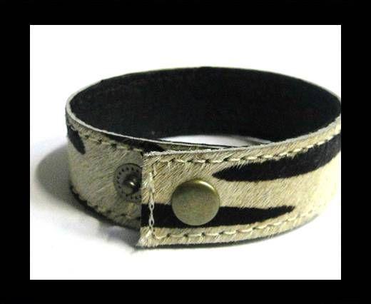 Hair-on ready bracelet - 20mm - Zebra