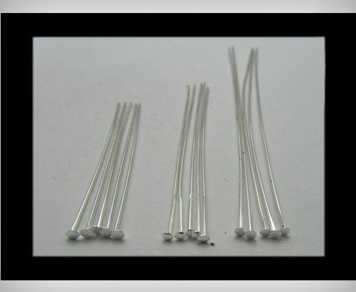 Head Pins FI-7022-Silver-40mm