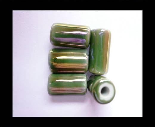 CB-Ceramic Flower-Hollow Tube-Green AB