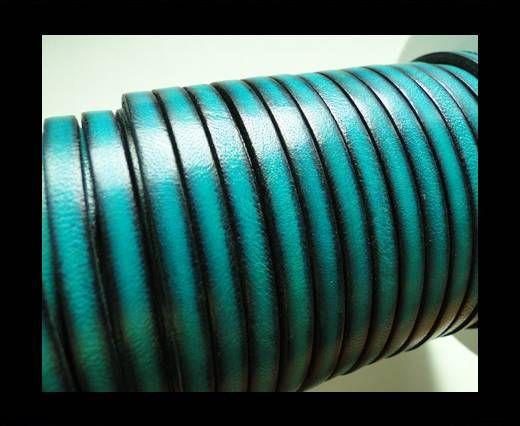Flat Leather 5mm - Vintage Sea Blue