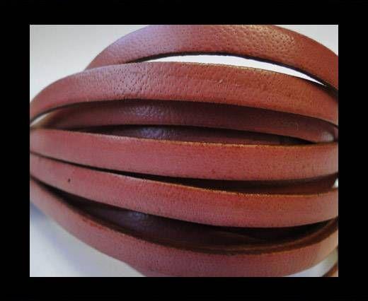 Flat Leather 5mm - Dark Rose