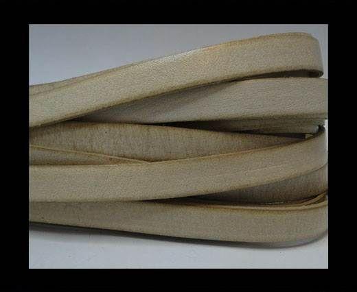Italian Flat Leather-vintage beige 10mm