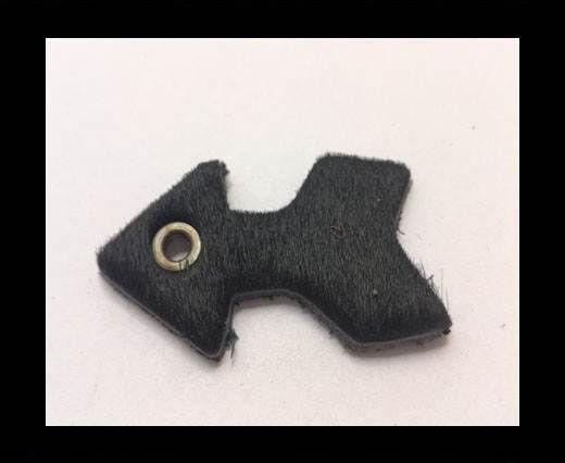 KC-Key Cord Arrow Shape 4cm black hair-on