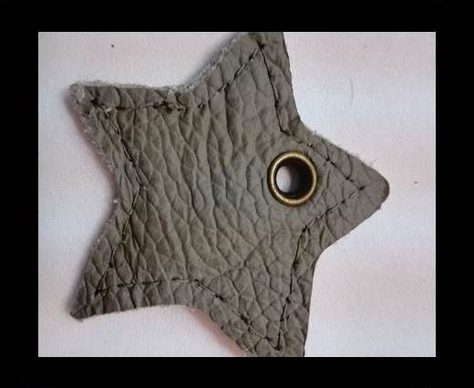KC-Key Cord Star Shape 4cm light grey