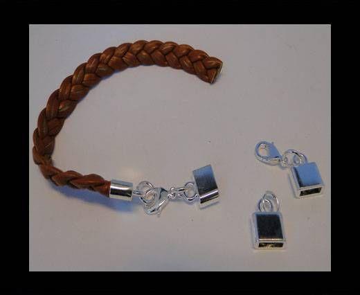 Locks for leather/Cords ZAML-03-Silver