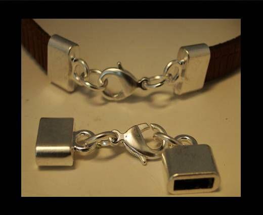 Buy Zamak magnetic clasp ZAML-03-10*3mm-Powdered-Silver at wholesale price