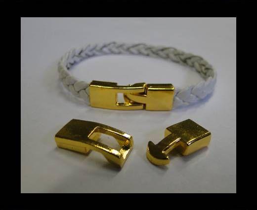 Zamac Hook Clasp - MGL-223-7x2.5mm-Gold